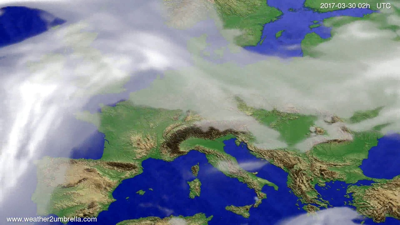 Cloud forecast Europe 2017-03-26