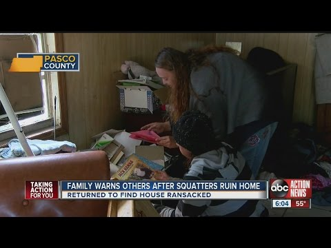 Squatters ruin home