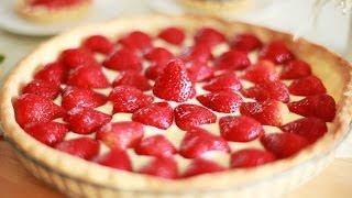 Einfache Erdbeertarte