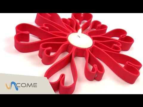 portacandele di san valentino fatto a mano - tutorial