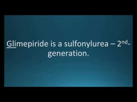 How to pronounce glimepiride (Amaryl) (Memorizing Pharmacology Flashcard)
