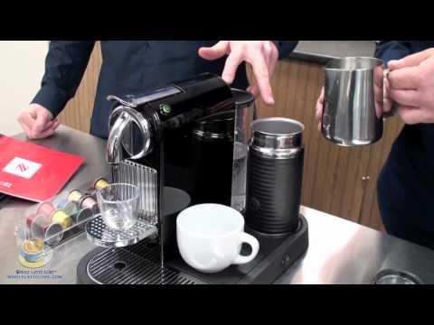 Nespresso CitiZ in Black with Aero 3 Milk Frother