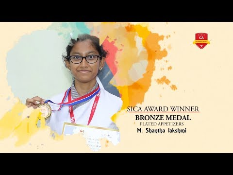 Student Shantha Lakshmi - Proud Medal Winner of Great Indian Culinary Challenge 2019
