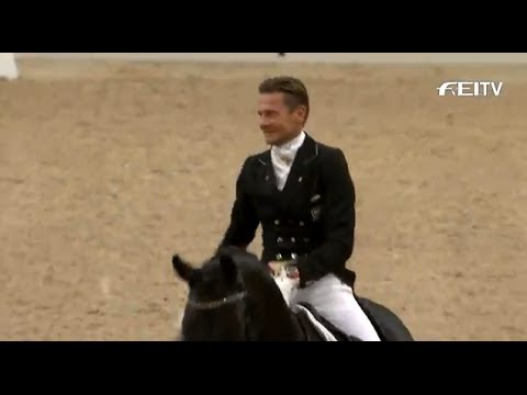 's Hertogenbosch - A thrilled Edward Gal wins the last leg of this season's Reem Acra FEI World Cup™ Dressage 2013/14 in front of a home crowd in 's-Hertogenbosch, a great warm...