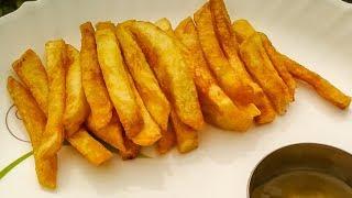 Homemade Crispy French Fries Recipe (होममेड फ्रेंच फ्राइज रेसिपी) - Make With Me