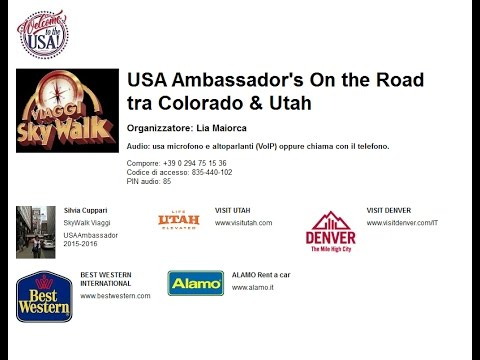 Video USA Ambassador's Experience: On the Road tra Colorado & Utah (26-1-2017)