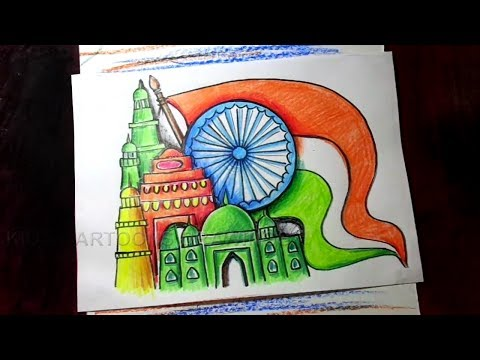 How To Draw Republic Day Greeting Poster Drawing For Kids Louise Powell Happy republic day easy drawing images for students 2019 26. louise powell wordpress com