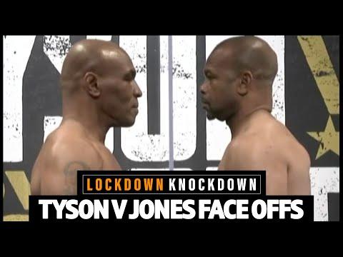 Mike Tyson v Roy Jones Jr final FACE OFF ahead of comeback fight