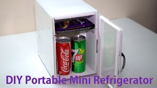 DIY Portable Mini Refrigerator || Home Made Refrigerator || Low Cost Refrigerator