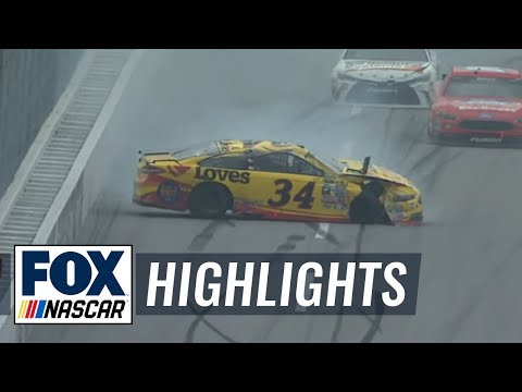 Chris Buescher Flips 3 Times In Taladega