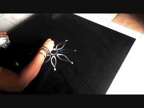 Video A simple arisi maavu kolam  | Traditional innovative rangoli designs | Sudha Balaji download in MP3, 3GP, MP4, WEBM, AVI, FLV January 2017