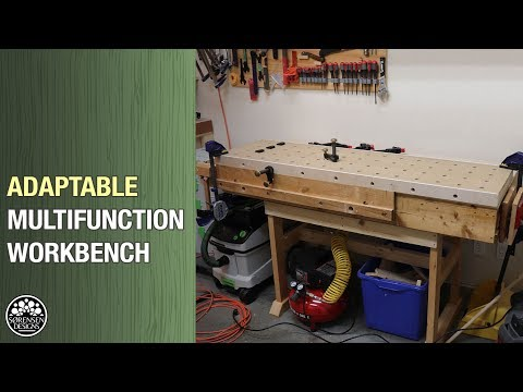 Woodworking - New Multifunction Workbench // DIY MFT For Any Wood Shop