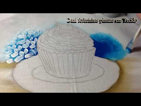 Cupcake com Flores