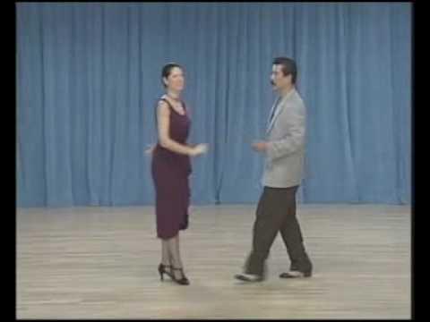 основные фигуры аргентинского танго - 07 Ochos para adelante(1 часть)