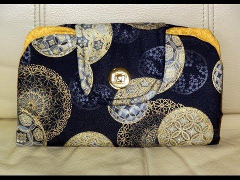 Patchwork Maria Adna - Carteira em tecido importado - Bolsa carteira em tecido - Carteiras tecido