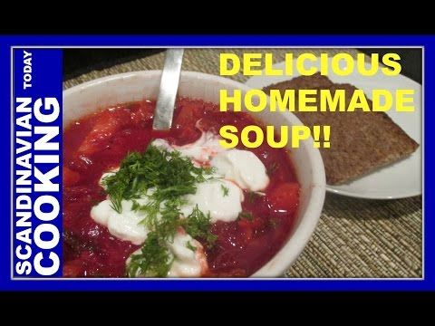 How to Make Beetroot Soup – Finnish Recipe – Punajuurikeitto – Borscht