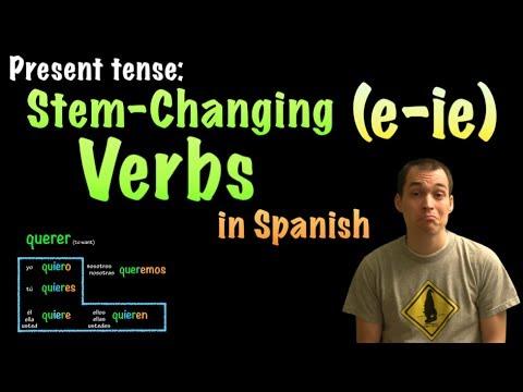 01065 Spanish Lesson - Present Tense - E-IE Stem wechselnden Verben