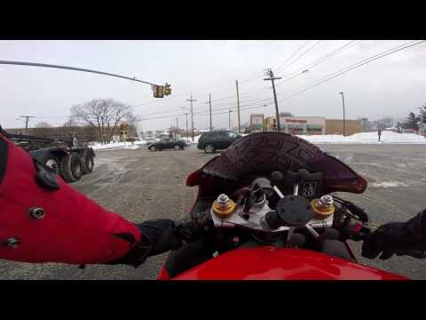 THIS IS WHY YOU SHOULDN'T RIDE YOUR MOTORCYCLE TO WORK IN THE SNOW