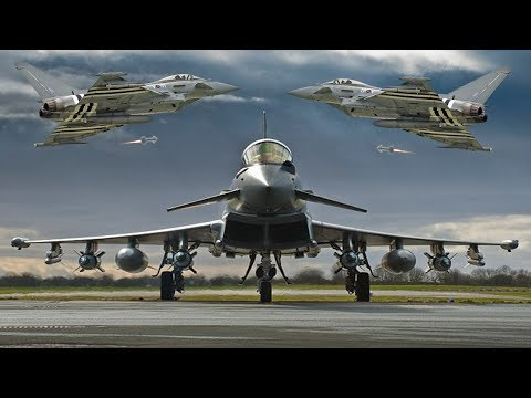 Amazing British RAF Typhoons in...