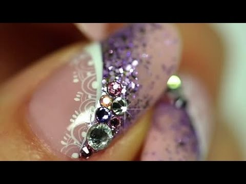 nail art - french viola