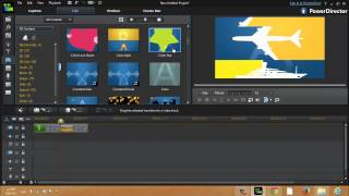 شرح إضافة الإنتقالات بين المشاهد و الفيديوهات برنامج CyberLink PowerDirector R12