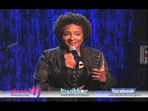 Wanda Sykes accepts the Stephen F. Kolzak Award at the 21st Annual GLAAD Media Awards in Los Angeles