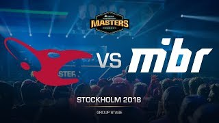 mousesports vs MIBR - DH MASTERS Stockholm - map1 - de_mirage [GodMint, SSW]