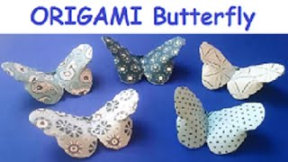 Super Simple ORIGAMI vs KIRIGAMI Butterfly - YouTube