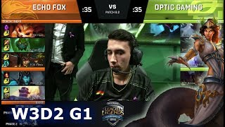Video Echo Fox vs OpTic Gaming | Week 3 Day 2 of S8 NA LCS Spring 2018 | FOX vs OPT W3D2 G1 MP3, 3GP, MP4, WEBM, AVI, FLV Juni 2018