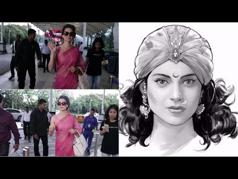 Kangana Ranaut Fly For Varanasi For A Grand Poster Launch Of Her Next Movie Manikarnika