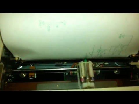 Sharp MZ-1P16 Printer/Plotter in action