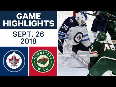 Video: NHL Pre-season Highlights | Jets vs. Wild - Sept. 26, 2018