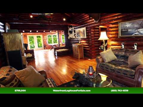 Waterfront Log House for Sale near Sudbury,Toronto