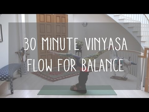 30 min vinyasa flow for balance