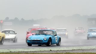 In-car video from car 33, TVR 3000M in the first HSCC 70s Roadsports race of the day at Snetterton on a busy 30 car grid combined with HSCC Historics plus other invited classics.
