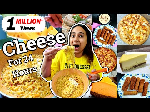 I only ate CHEESE for 24 Hours   Food Challenge   All Cheese dishes