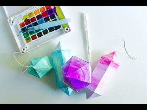 Make Sparkling Paper Gems