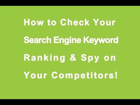 how to check keyword ranking