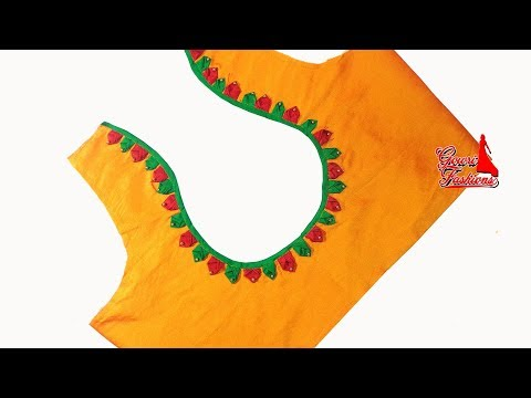 Video Very Easy Blouse Back Neck design Cutting And Stitching download in MP3, 3GP, MP4, WEBM, AVI, FLV January 2017