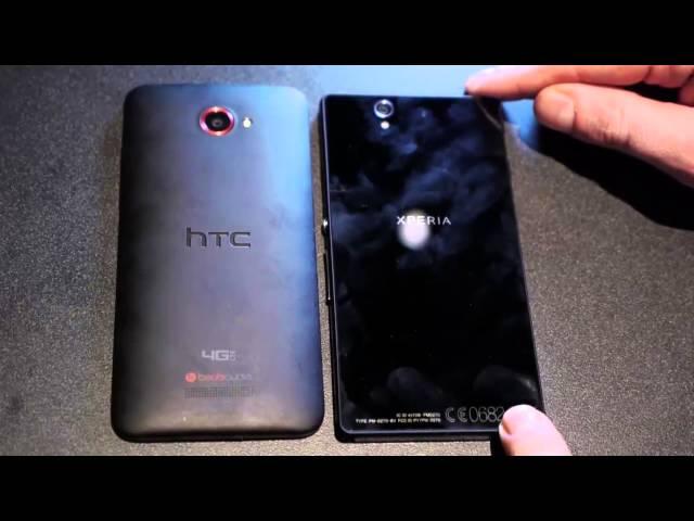 2 smartphone 'khủng' nhất Sony Xperia Z, HTC Droid DNA so dáng