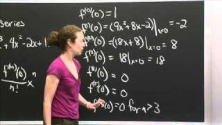 Taylor's Series Of A Polynomial | MIT 18.01SC Single Variable Calculus, Fall 2010