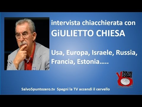 """""""chi minaccia la pace?"""", giulietto chiesa intervistato da m. villari"""