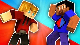 Minecraft Red Vs Blue War (Minecraft 1.8 Red Vs Blue Towers) w/Lachlan and Friends
