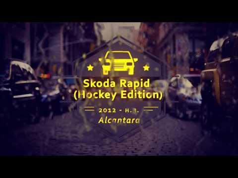 """Чехлы на Skoda Rapid (hockey edition), серии """"Alcantara"""" - серая строчка"""