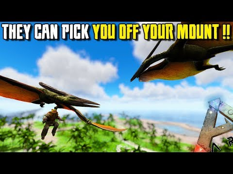 WILD PTERANODON CAN PICK YOU OFF YOUR MOUNT !!   JURASSIC ARK   ARK SURVIVAL EVOLVED [EP99] (видео)