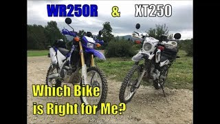 4. Yamaha WR250R & XT250, Which Bike is Right for Me?