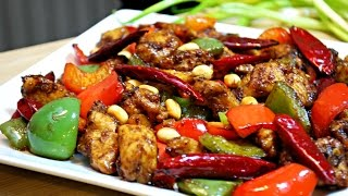 Homemade Chinese chicken in a savory and spicy sauce. Ingredients1 lb Chicken Breast1 Tsp Soy Sauce1 Tbsp Corn starch1-2 Tbsp Soy sauce1 Tbsp Hoisin sauce2 Tsp Chili chicken1/4 Tsp Sugar1 Tsp minced Garlic1 Tsp minced Ginger1 Bell PepperDry red chilies1/4 Cup Peanuts~Enjoy!Audio: Water Lily - Youtube Audio library