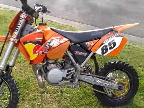 2004 KTM 65 SX Walkaround / Start-up and Ride