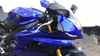 9. My First Vlog!  Walk around my Brand New 2018 Yamaha YZF-R6, 2017 Onwards Model R6 Race & Track Bike
