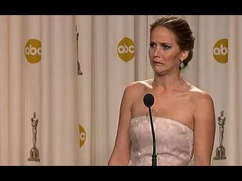 co - The Best Actress winner at the 2013 Oscars, Jennifer Lawrence, brushes off questions about tripping up during the ceremony with the funniest interview of the...